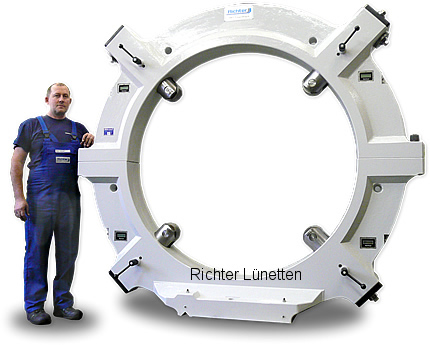 Geminis GHT-9-2000-62 - Steady rest with removable top and 4 quills<br>electronic centering display, made by H. Richter Vorrichtungsbau GmbH, Germany