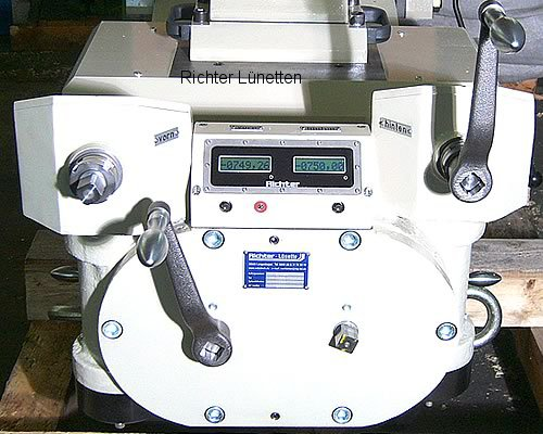 Heyligenstaedt KV-800-CNC - Roller Steady Rest with measuring system and 2 spindles, made by H. Richter Vorrichtungsbau GmbH, Germany