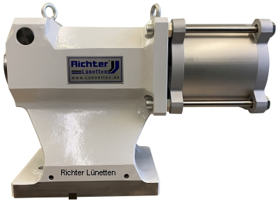 T-Nutentisch - Tailstock - hydraulic or pneumatic driven quill, made by H. Richter Vorrichtungsbau GmbH, Germany