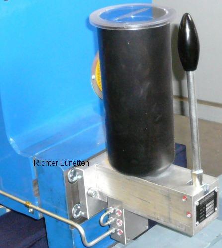 Lubrication of the machine slideways, made by H. Richter Vorrichtungsbau GmbH, Germany